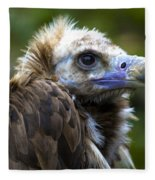 Monk Vulture Fleece Blanket