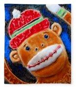 Monkey Sock Around Fleece Blanket