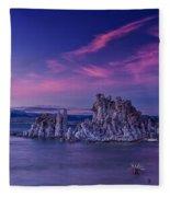 Mono Lake's Fiery Sky Fleece Blanket