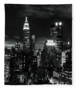Monochrome City Fleece Blanket