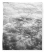 Monochrome Clouds Fleece Blanket