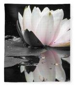 Monochrome Lily Fleece Blanket