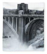 Monroe St Bridge 2 - Spokane Washington Fleece Blanket