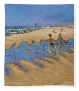 Montalivet France Fleece Blanket