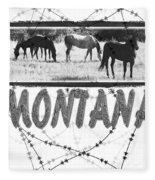 Montana Horse Design Fleece Blanket