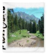 Montana Howdy Fleece Blanket