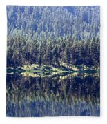 Montana Lake Reflection Fleece Blanket