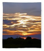 Montana Sunset Fleece Blanket