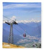 Monte Tamaro - Switzerland Fleece Blanket