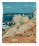 Monterey Coast Fleece Blanket