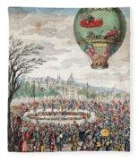 Montgolfier Balloon Le Flesselles Fleece Blanket