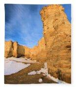 Monument Rocks In Kansas Fleece Blanket