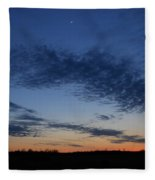 Moon And Clouds At Dusk Fleece Blanket