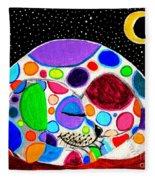 Moon Doggy Fleece Blanket