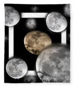 Moon From The Country Fleece Blanket