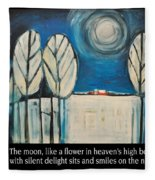 Moon Quote Poster Fleece Blanket