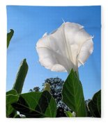 Moonflower Rising Fleece Blanket