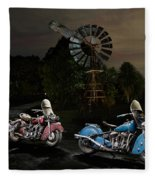 Moonlight Indian Chief Fleece Blanket