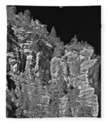 Moonlit Cliffs Fleece Blanket
