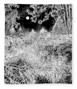 Moonlit Frost Fleece Blanket