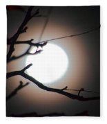 Moonlit Pink Fleece Blanket