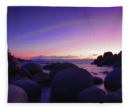 Moonrise Over Tahoe Fleece Blanket