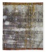 Mooresville - Belle Mina Junior High School 1967 Fleece Blanket