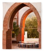 Moorish Arches Fleece Blanket