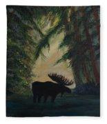 Moose Pond Hideout Fleece Blanket