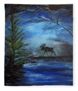 Moose Pond Fleece Blanket