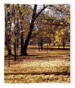 More Fall Trees Fleece Blanket