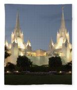 Mormon Cathederal San Diego 2 Fleece Blanket