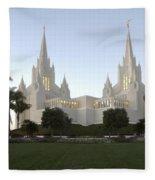 Mormon Cathederal San Diego Fleece Blanket
