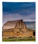 Mormon Row Barn 2 Fleece Blanket
