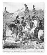Mormons At Nauvoo, 1840s Fleece Blanket