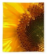 Morning Dew On Sunflower Fleece Blanket