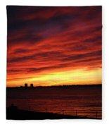 Morning Fire Fleece Blanket
