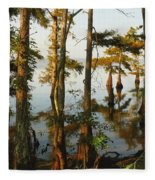 Morning In The Swamps Fleece Blanket