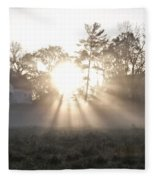 Morning Light At Valley Forge Farm Fleece Blanket