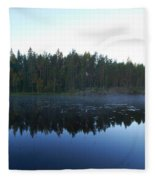 Morning Mist At Haukkajarv Fleece Blanket