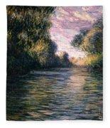 Morning On The Seine Fleece Blanket