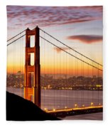 Morning Over San Francisco Fleece Blanket