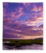 Morning Over The Marsh Fleece Blanket