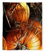 Morning Pumpkins Fleece Blanket