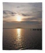 Morning Skies On The Chesapeake Fleece Blanket