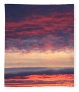 Morning Sky Portrait Fleece Blanket