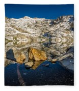 Morning Sun On Angel Lake Fleece Blanket