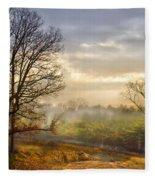 Morning Trees Fleece Blanket