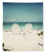 Morning View-vintage Fleece Blanket