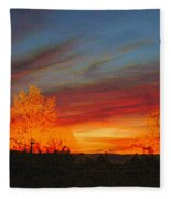 Morning's Magical Light Fleece Blanket